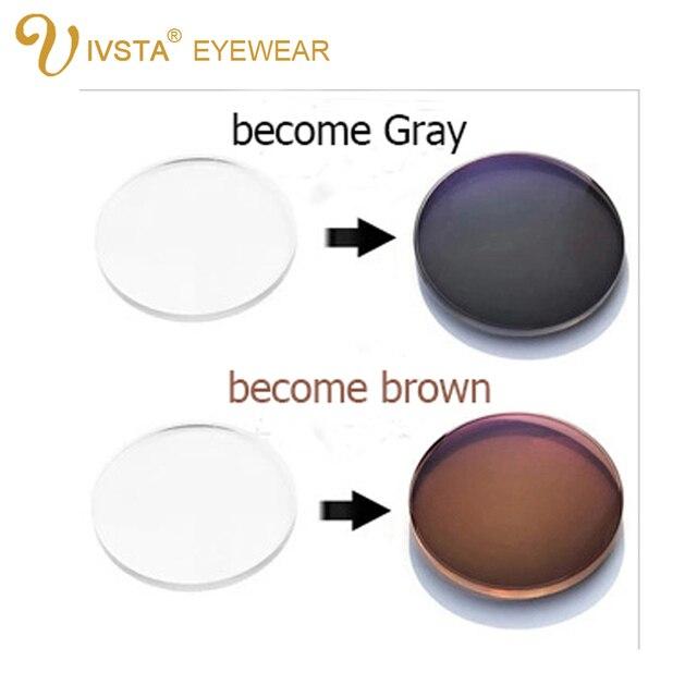 IVSTA przyciemniane okulary soczewki fotochromowe mężczyźni kobiety dioptrii stopień optyczny recepta anti Scratch 1.56 1.67