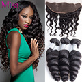 4 Bundles Malaysian Virgin Hair Loose Wave With Lace Frontal Closure Ali Moda Malaysian Loose Wave 13x4 Ear To Ear Lace Frontal