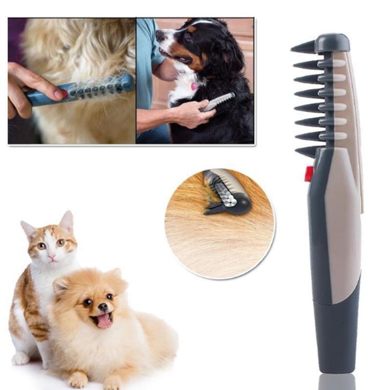 Elektrische Hund Grooming Kamm Katze Haar-trimmer Knoten Aus Entfernen Matten Verwicklungen Tool Liefert furmins Katzen Schere