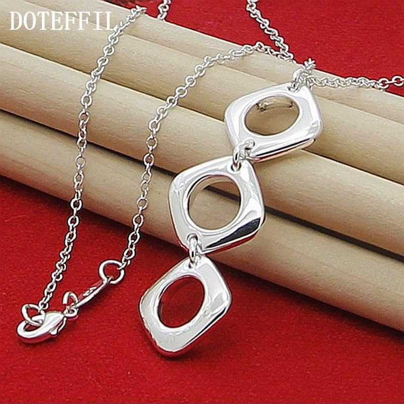 925 kolor srebrny biżuteria marka Charm naszyjniki wisiorki dla mężczyzn dla kobiet z łańcucha nowa moda oświadczenie naszyjnik