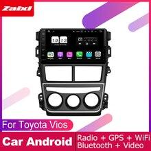 цена на ZaiXi android car gps multimedia player For Toyota Vios Yaris 2018 car dvd navigation radio video audio player Navi Map