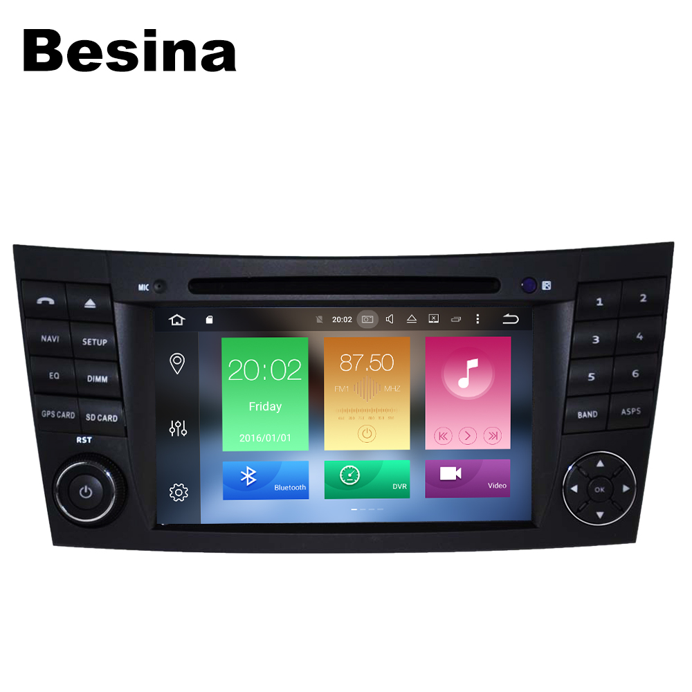 Besina Two Din 7 Inch Car DVD Player For Mercedes Benz E Class W211 E200 E220