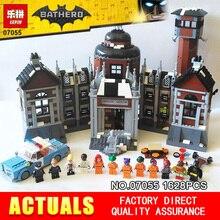 Nova 1628 Pcs Lepin 07055 Genuína Série de Filmes do Batman Arkham Asylum Blocos Tijolos Brinquedos com 70912 presente