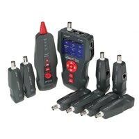Многофункциональный ЖК дисплей сетевой кабель тестер Провода трекер RJ11 RJ45 BNC Провода Длина Finder с 8 удаленного Адаптеры для сим карт Ping POE тес