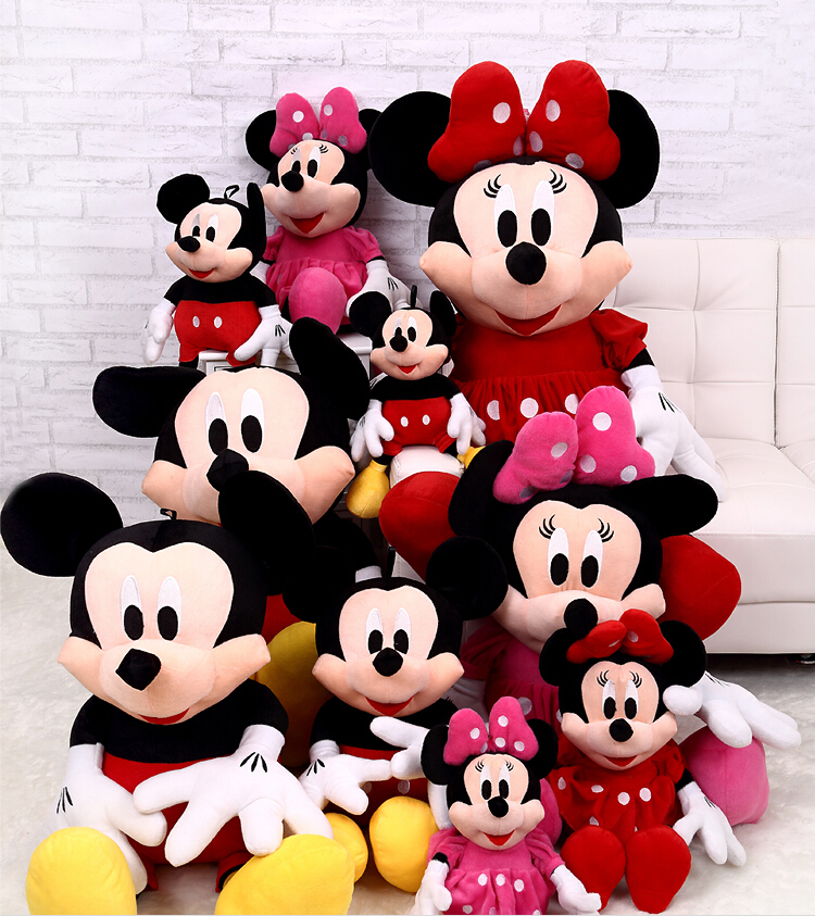 1pcs 28cm minnie and mickey mouse low price super plush doll stuffed animals plush toys for