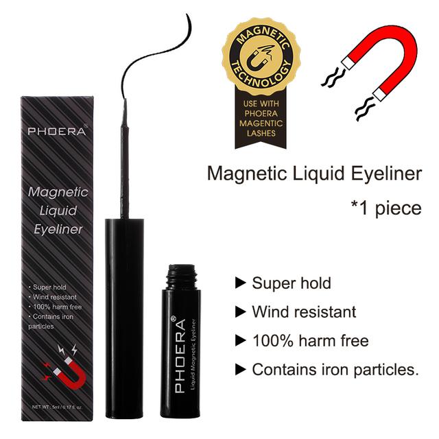 Producto de Importación PHOERA Delineador Magnético líquido de secado rápido fácil de usar resistente al sudor duradero para imanes pestañas