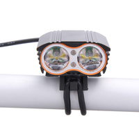 High Brightness 6000lm 2x XM L T6 White LED Waterproof MTB Front Bicycle Light Headlamp Headlight