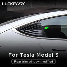 LUCKEASY Car Rear trim window modified  patch For Tesla Model 3 special rear triangle mirror decorated
