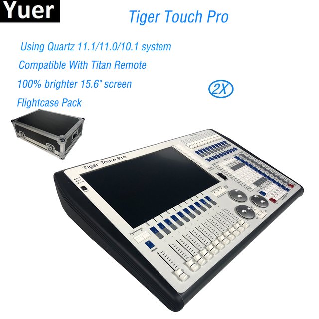 Newest Digital Tiger Touch Pro 11.1/10.1 Screen DMX Light Console Controller For Stage Lighting DJ equipment with Flight Case
