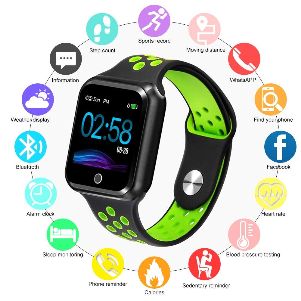S226 smart watch IP67 Wasserdichte Smart Armband 15 tage lange standby-Herz Rate Blutdruck Farbe Bildschirm Sport Armband
