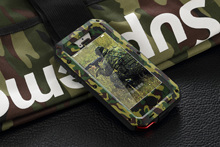 Premium Protection For Apple iPhone 4 4S 5 5S 5G SE Metal Case Shockproof Waterproof Military Camouflage Hard Phone Case Cover