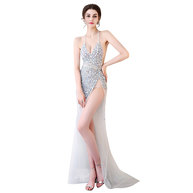 Les Longueur Pour Femmes Étage Nu Transparent Dos Transparente Robe Sexy zFqtnW6BB