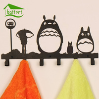 Totoro Creative Metal Coat Hooks For Bag Keys Wall Decorativefor Hooks Clothes Hangers HSB143