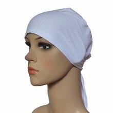 Мусульманская шапка хиджаб шапка головной убор мягкая хлопок эластичный с поясом Противоскользящий классический стиль