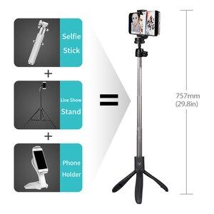 Image 2 - Lewinner K05 селфи палка штатив Стенд 4 в 1 Выдвижной Монопод Bluetooth пульт дистанционного телефона крепление для iPhone X 8 Android Gopro
