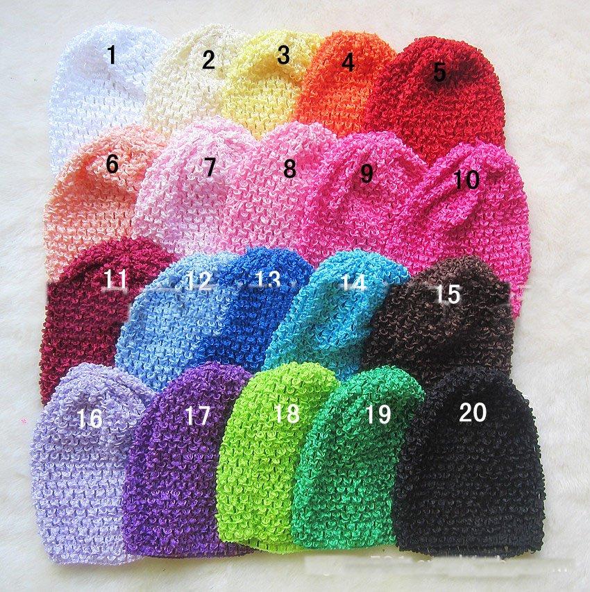 60 шт. вязанные крючком шапки-бини, b головные уборы aby, шапка в виде вафли 27 цветов младенцев Размер шапочка для младенцев