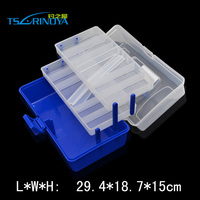 Tsurinoya 29.4*18.7*15cm Pesca Plastic Portable Fishing Box Fish Minnow Fishing Accessories Ferramentas Box Carp Fishing Tackle