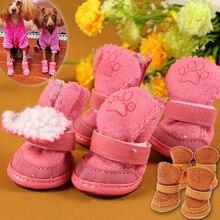 Новые Симпатичные Собаки Чихуахуа Обувь Маленьких Собак Обувь Для Собак Щенок Зима Теплая Boots Обувь Hogard