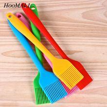 Hoomall многоцветные силиконовые щетки для выпечки, щетки для масла, для торта, хлебное масло, инструменты для выпечки, кухонные безопасные щетки для барбекю 21*3 см