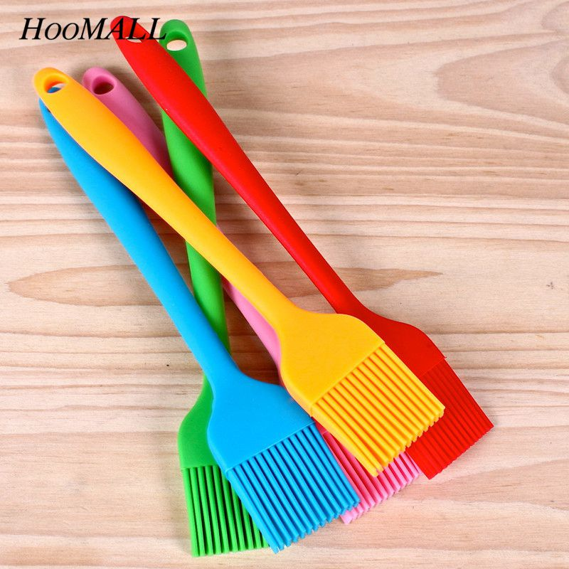 Hoomall Multi Color Silicone Basting Pastry Brush Oil Brushes For Cake Bread Butter Baking Tools Safety BBQ Brush 21*3cm body jewelry