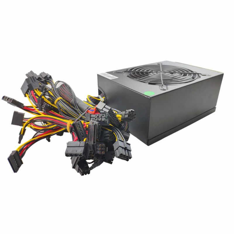 T. f. skywindintl 2000 w psu asic bitcoin power 2000 w eth fonte de alimentação atx máquina de mineração suporta 8 cartões gpu suporte max 2400 w