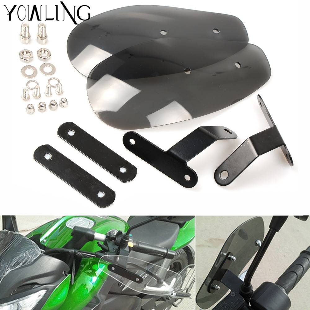 motorcycle accessories wind shield handle hand guard ABS transparent handguards FOR YAMAHA YZF R1 R6 R3 R25 Tmax 500 530 MT07 MT atv motorcycle wind shield handle hand guards motocross transparent handguards for honda cbf600 sa cbf1000 a cb1100 gio nc750