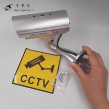 TRINIDAD WOLF Fake Dummy Camera Outdoor Indoor Waterproof Security CCTV Surveillance Camera With LED light