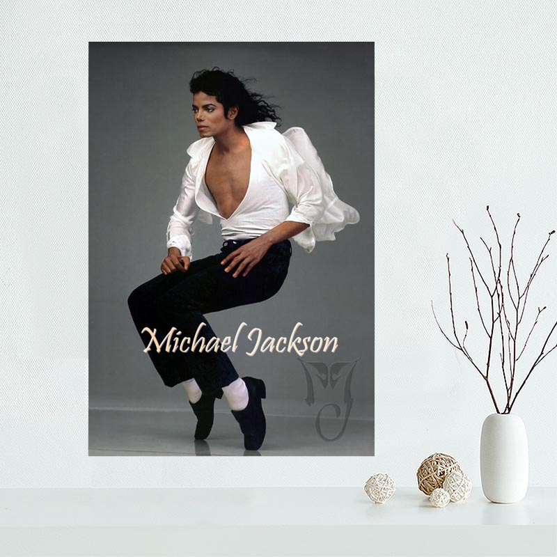 High Quality  Michael Jackson Custom Canvas Poster Home Decoration poster cloth fabric Canvas Painting wall poster print