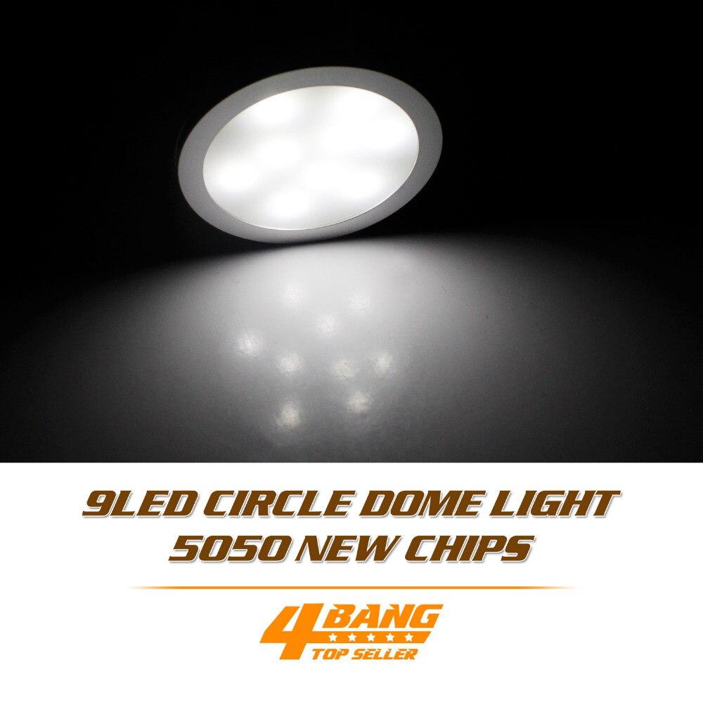 5 pièces DC 12 V Blanc Froid LED Armoire Lumière 9 LED SMD5050 Mince Rondelle Socle Lampe Projecteur + Fil De Connexion + Adaptateur Dôme Lampe Ampoule
