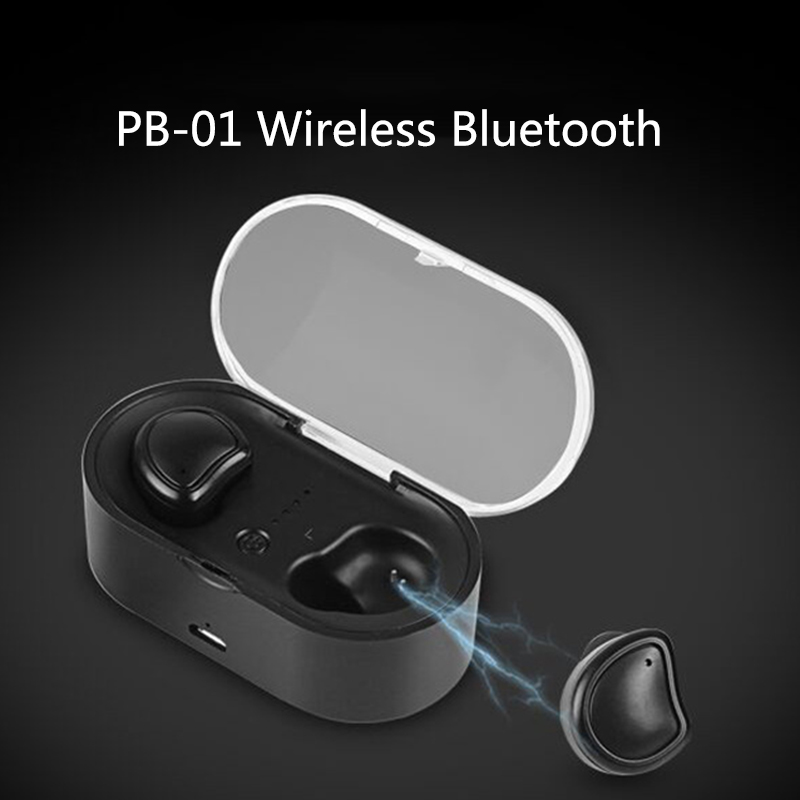 TWS Bluetooth Earphone Headset True Wireless Earbuds Bluetooth 4.1 Stereo in Ear Earphones with Charger Box for Phone Mic