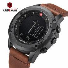 KADEMAN мужские часы цифровые военные спортивные часы с пошаговым счетом лучшие брендовые роскошные кожаные водонепроницаемые Модные мужские наручные часы relogio
