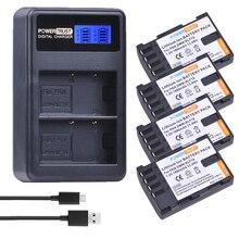 4Pcs 1860mAh DMW-BLF19E DMW-BLF19 Camera Battery DMW BLF19 BLF19 BLF19E +LCD Dual USB Charger for Panasonic Lumix GH3 GH4 GH5