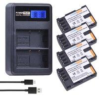 4Pcs 1860mAh DMW BLF19E DMW BLF19 Camera Battery DMW BLF19 BLF19 BLF19E +LCD Dual USB Charger for Panasonic Lumix GH3 GH4 GH5