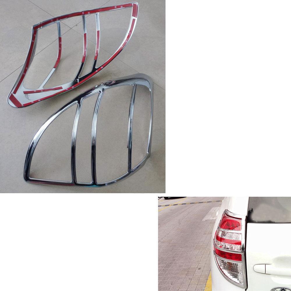 Otomobiller ve Motosikletler'ten Krom Şekillendirici'de 2 adet/takım Krom ABS Araba Arka Kuyruk Işık Lambası Kapağı Trim Çıkartması Çerçeve Fit için Toyota RAV4 RAV 4 2009  2012 Araba Styling Aksesuarları