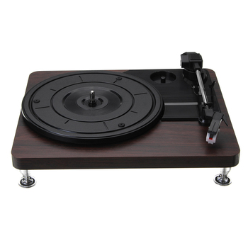 AAAE 33Rpm Plastic Record Retro Player Portable Audio Gramophone Turntable Disc Vinyl Audio Rca R/L 3.5Mm Output Usb Plug Play