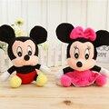 1 pcs Adorável Mickey Mouse E Minnie Mouse Brinquedos De Pelúcia 18 CM recheado Dos Desenhos Animados Anime Dolls Crianças Bebê Brinquedos de Pelúcia Para As Crianças brinquedos