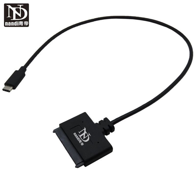 Thunderbolt USB 3.1 Type-C to <font><b>Sata</b></font> <font><b>7</b></font>+15 22 pin Cable Convert Adapter External HDD 2.5