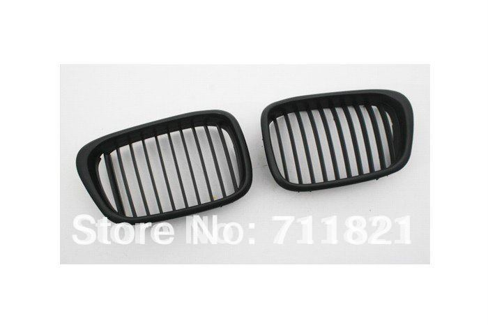 Front Euro Kidney Grille Matte Black For BMW E39 5 Series 2001 2003