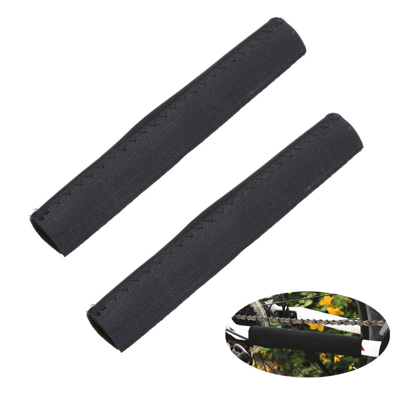 2pcs Durable Mountain Bike Chain Frame Protector Tube Wrap Cover Chain Stay Frame Protection Guard Cycling Bike Accessories