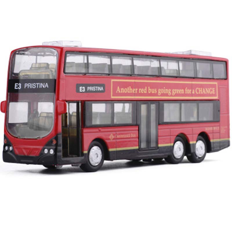 1:43 2 Floor London Double Decker Bus Model Toy Cars Alloy