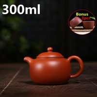 Chinese New Ceramic Teapots Tea Pot 300ml Authentic Handmade Pots Zisha Yixing Teapots Purple Clay Pot