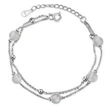 yu xin yuan fashion jewelry 925 Silver Bracelets 6mm crystal connection Decorations bracelet for women/girl party jewelry(China)