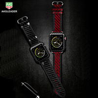 High Quality Real Carbon Fiber Watch Band strap For Apple Watch Series 4 1 2 3 iWatch Watch Bracelet Watchband 38mm 42mm