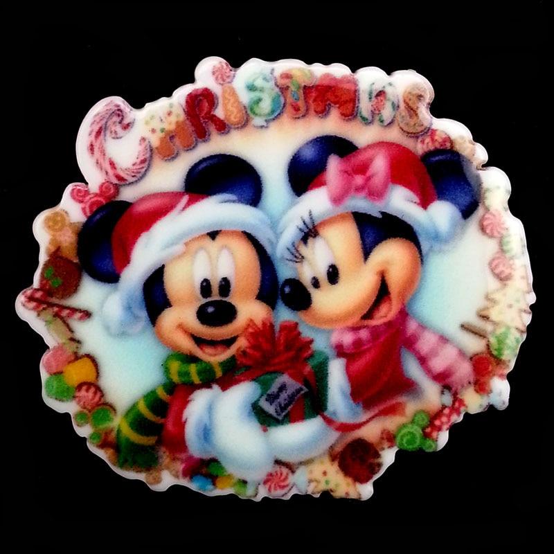 mickey minnie mouse christmas resin planar flatbacks embellishments craft hair