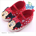 2016 Hot Sale Cute Animal Polka Dot Newborn Baby Girl Shoes Butterfly-knot Shallow Canvas Infant Baby First Walker Soft Soles