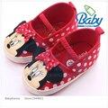 2016 Venta Caliente Animal Lindo Polka Dot Bebé Recién Nacido Zapatos de La Mariposa del nudo de Lona Superficial Para Bebé Baby First Walker Suelas blandas