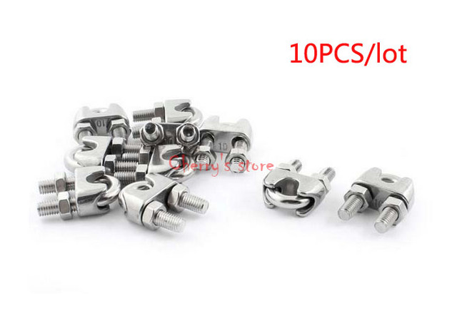Best Promotion Wholesale Price 10pcs Stainless Steel Cable Clip ...