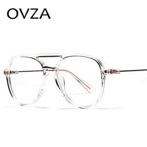 fb199721a9 OVZA Fashion Big Glasses Frames Mens Transparent Eye Glasses Frames for  Women Classic Optical Frame S0089