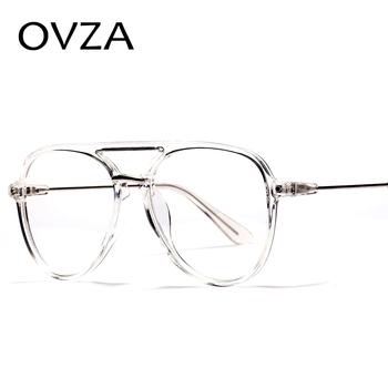 OVZA Fashion duże ramki okularów męskie przezroczyste ramki okularów dla kobiet klasyczne oprawki optyczne S0089 tanie i dobre opinie Fashion glasses Oversized pilot style oculos feminino oculos masculino 55mm(2 17in) 56mm(2 2in) Women Girls Female Ms Round Face Square Face Long Face Oval Face