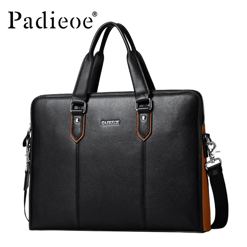 Briefcase Luxury Handbags Messenger-Bags Black Men's Fashion Business Designer